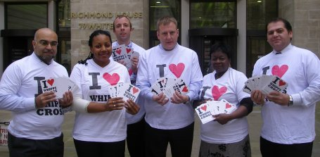 Waltham Forest's Labour councillors deliver our postcards to the Health Secretary