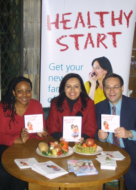 Launching Healthy Start with MPs Caroline Flint and Harry Cohen